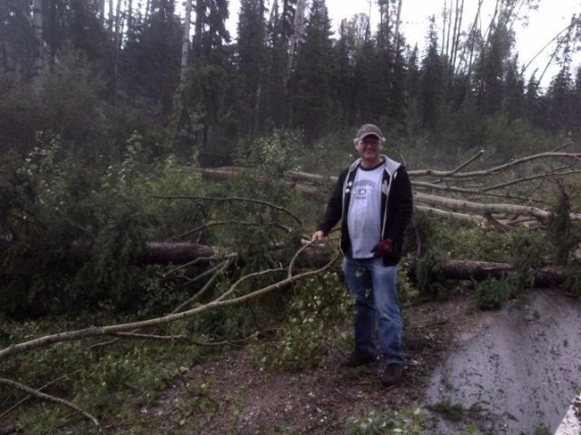 Intense Thunder Storm with Trees Uprooted Near Fort Nelson BC July 30 2013 Fort Nelson, British Columbia Canada