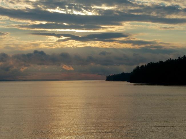 Dawn over Lake Nipissing Nipissing, Ontario Canada