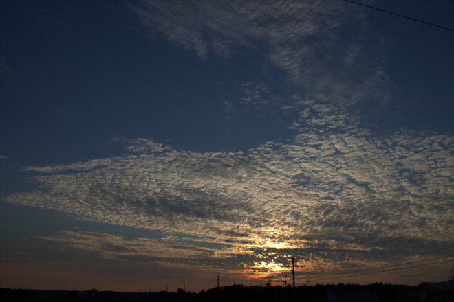 """beautiful wispy clouds"" Timmins, Ontario Canada"