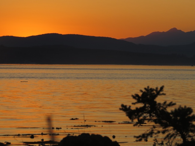 Sunset Serenity At April Point Campbell River, British Columbia Canada
