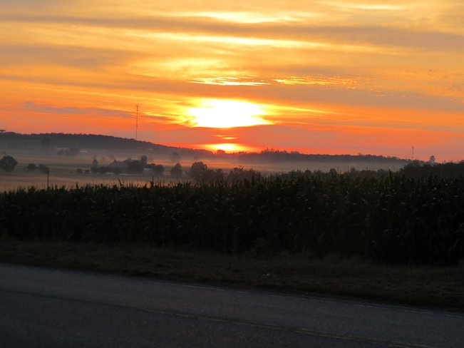 Sunrise on the farm Stratford, Ontario Canada