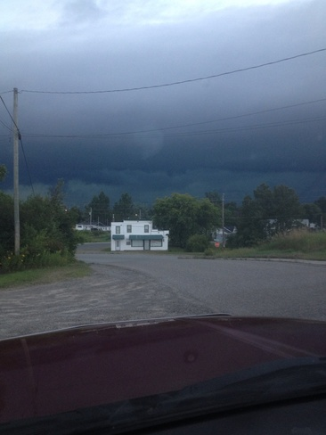 storm coming Blind River, Ontario Canada
