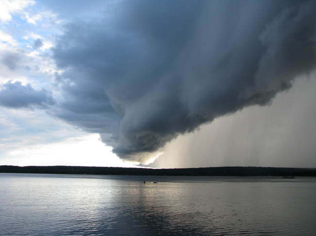 Storm coming down the Ottawa River Shawville, Quebec Canada
