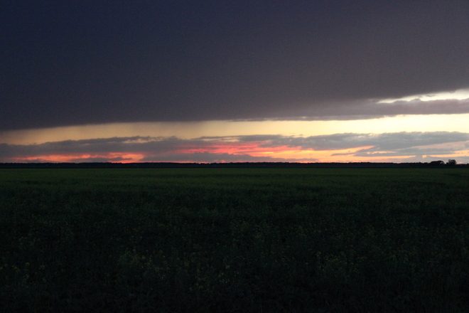 Sunset Niverville, Manitoba Canada