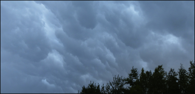 Nice storm clouds Elliot Lake, Ontario Canada