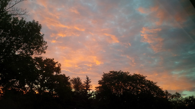 Red sky in morning St. Catharines, Ontario Canada