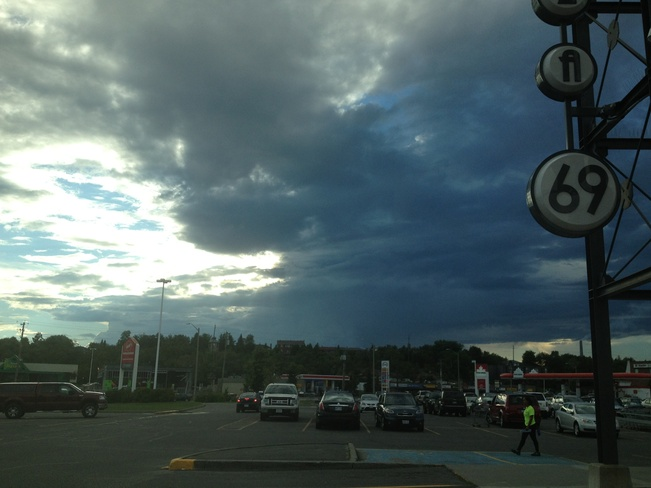 Storm Moving In The Four Corners, Ontario Canada