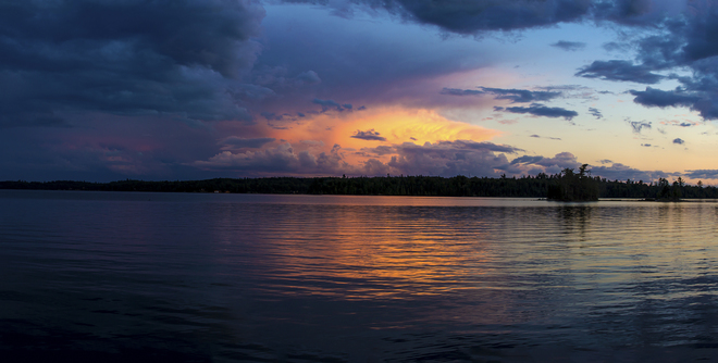 After the Storm on Long Bay Sioux Narrows, Ontario Canada
