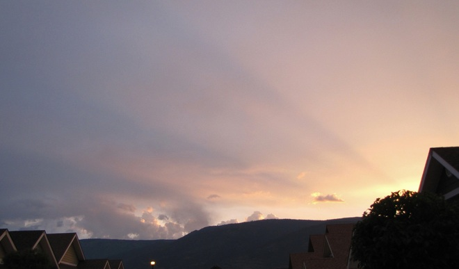 after the storm Salmon Arm, British Columbia Canada