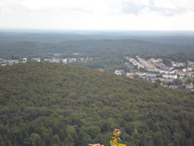 This is Elliot Lake as seen from Fire Tower Elliot Lake, Ontario Canada