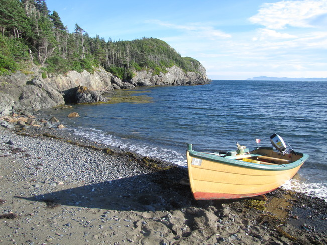 At the beach Rock Harbour, Newfoundland and Labrador Canada