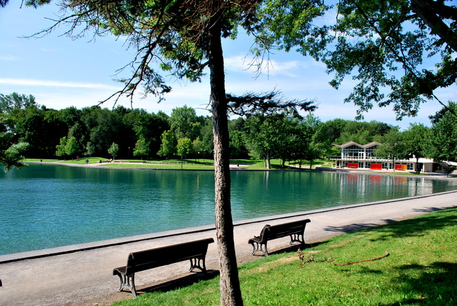 calm lake Montréal, Quebec Canada