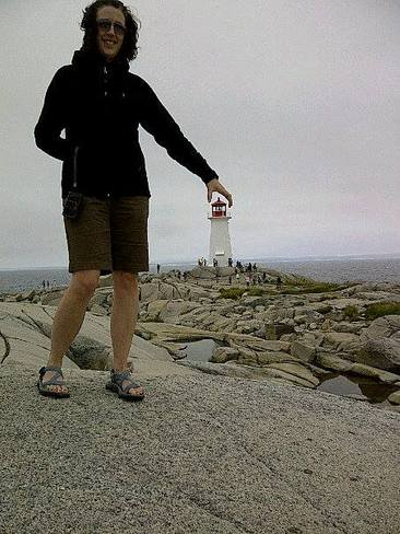 No, you can't take that home with you. Peggys Cove, Nova Scotia Canada