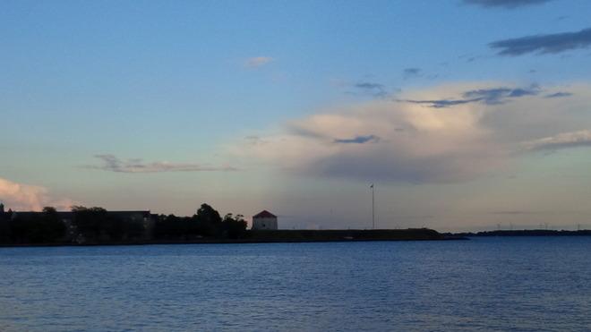 Rain on the battlements Kingston, Ontario Canada