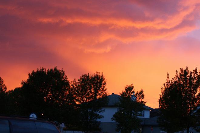 Sky on fire Kirkland, Quebec Canada