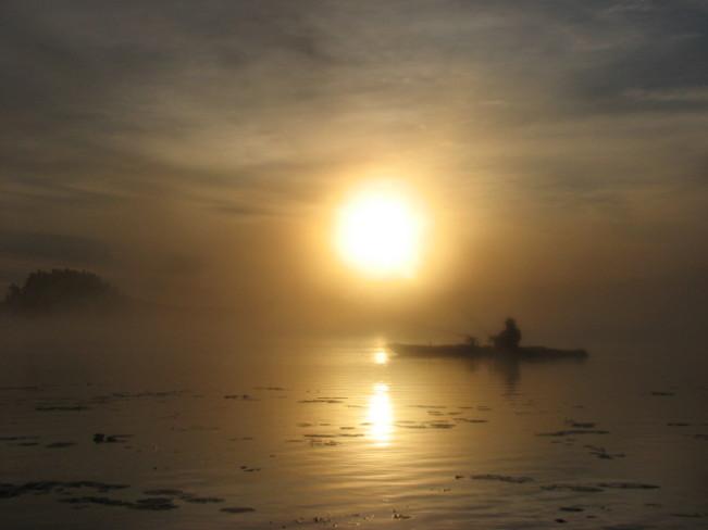 Sun rise on Rock Lake. Kingston, Ontario Canada