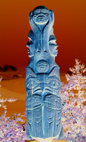 Totem Pole Lions Bay, British Columbia Canada
