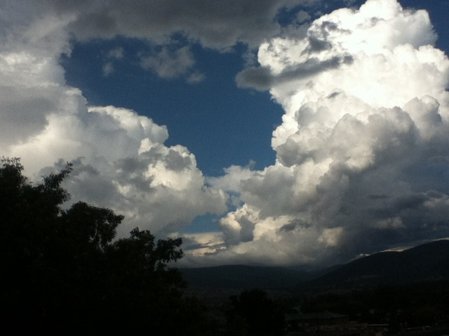 billowy storm cloud South Vernon, British Columbia Canada