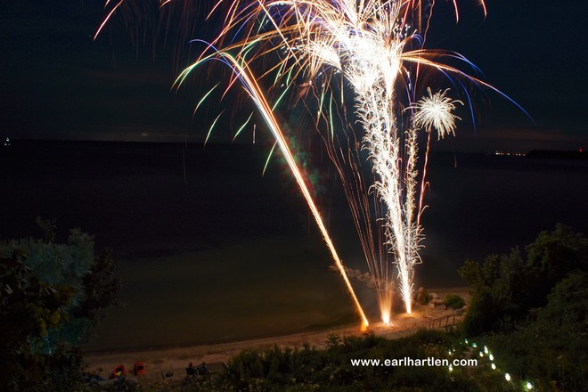 Great Fireworks Port Dover, Ontario Canada
