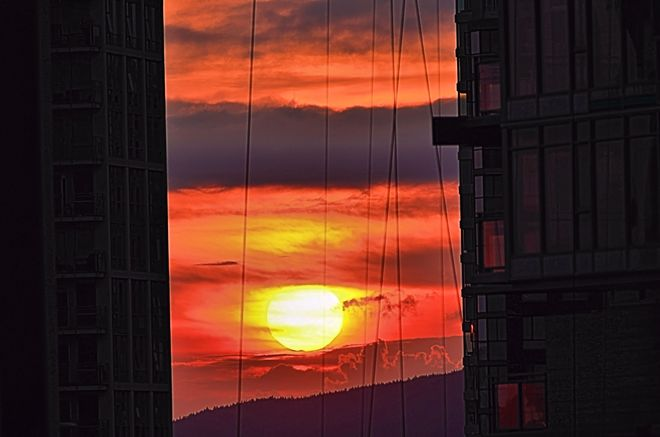 City Sunset Vancouver, British Columbia Canada