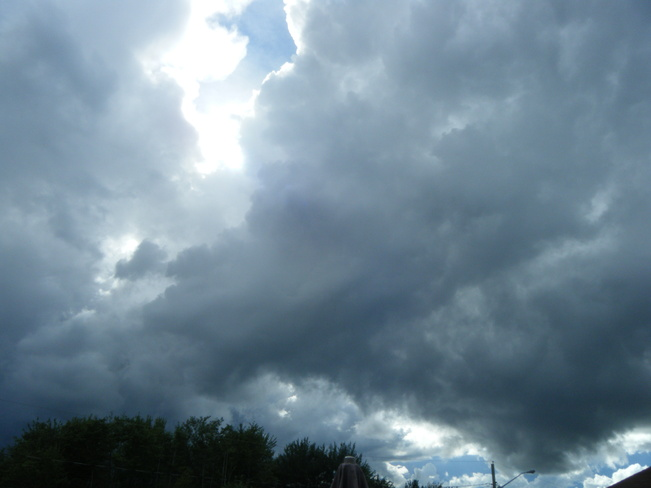 black clouds moving in Moncton, New Brunswick Canada