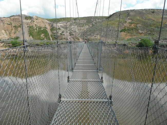 Swinging Bridge Drumheller, Alberta Canada