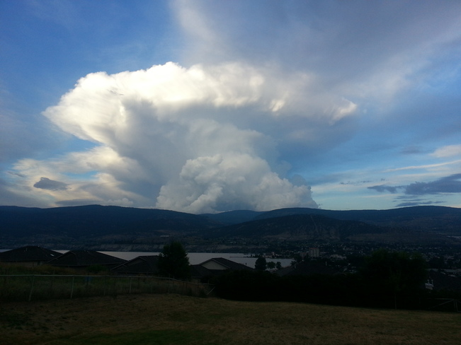 mushroom cloud Penticton, British Columbia Canada