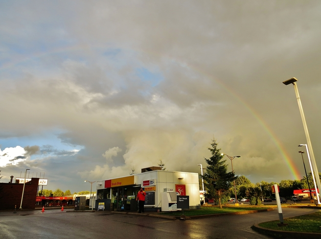 Beautiful rainbow yes, beautiful weather ??? North Bay, Ontario Canada