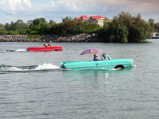 Cool boats...no, wait cars! What??? Orillia, Ontario Canada