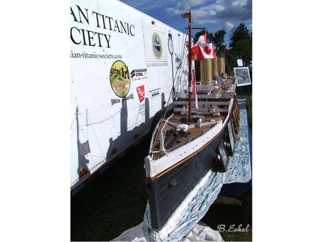 The Titanic Historical Society at the Friendship Festival Simcoe, Ontario Canada