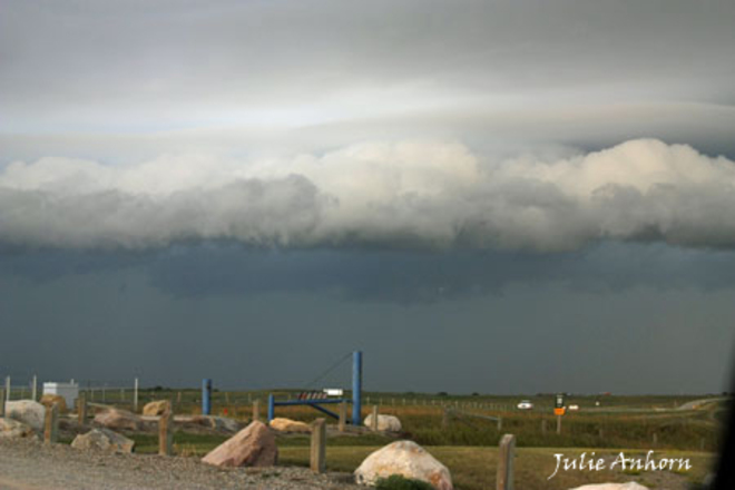 Storm Rolling In Spring Coulee, Alberta Canada