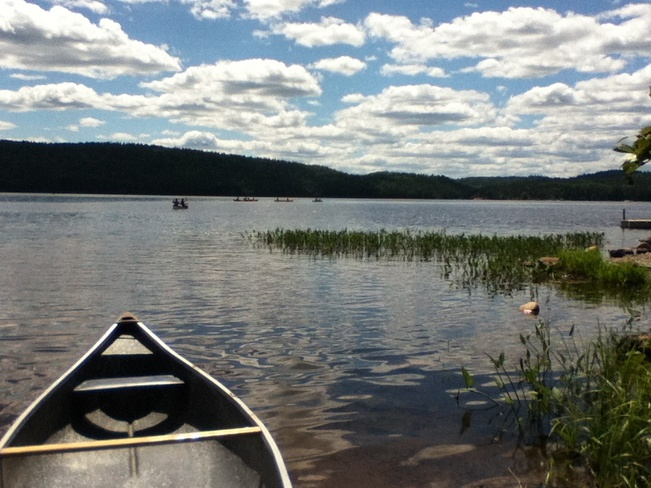 good day for canoin' Tramore, Ontario Canada