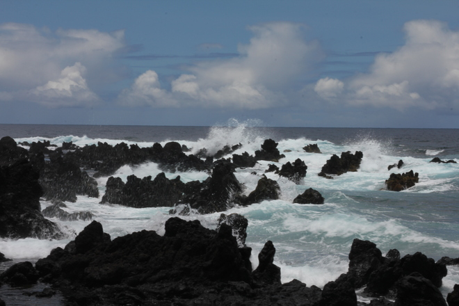 Crashing Waves on Lava Beach