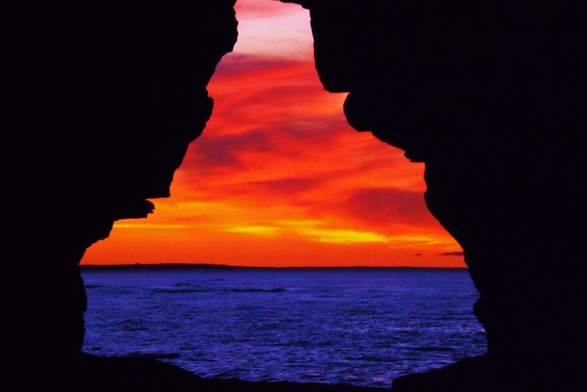 color at rhe caves Lower Darnley, Prince Edward Island Canada