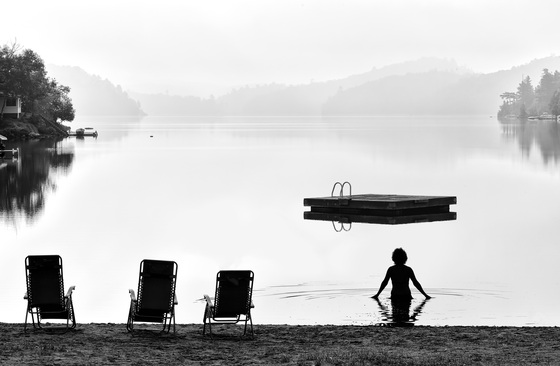 3b. Trout Lake Foggy Morning Swim