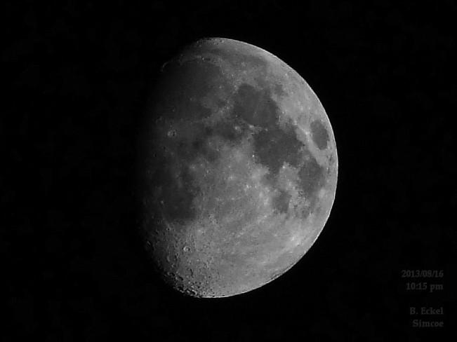Last nights moon Simcoe, Ontario Canada