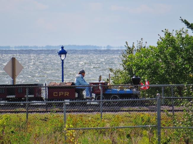 All aboard for a ride around the park! North Bay, Ontario Canada