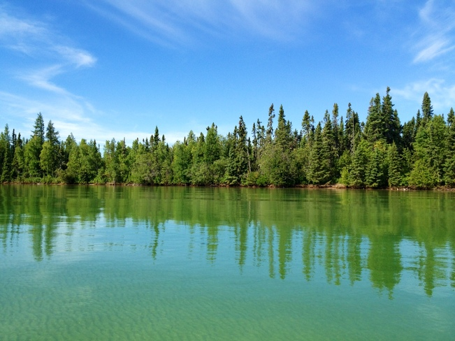 Beautiful day on Clearwater Lake The Pas, Manitoba Canada
