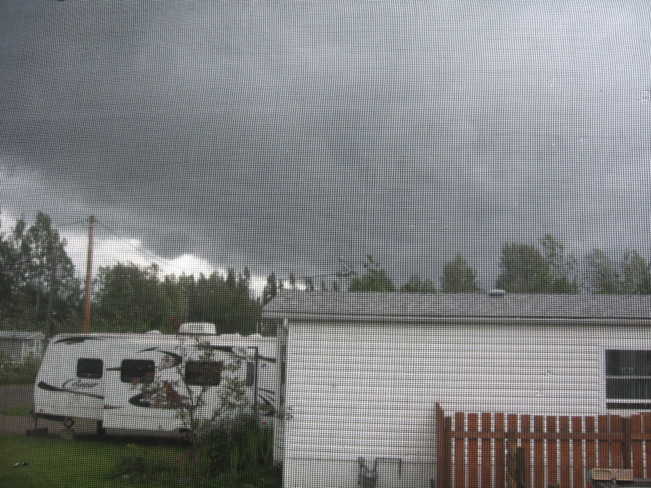 Stormy, windy weather Prince George, British Columbia Canada