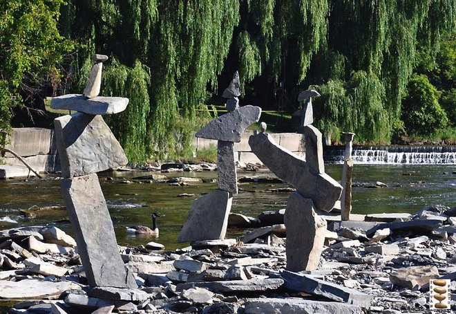"""Gigantic"" statues on Humber River Toronto, Ontario Canada"