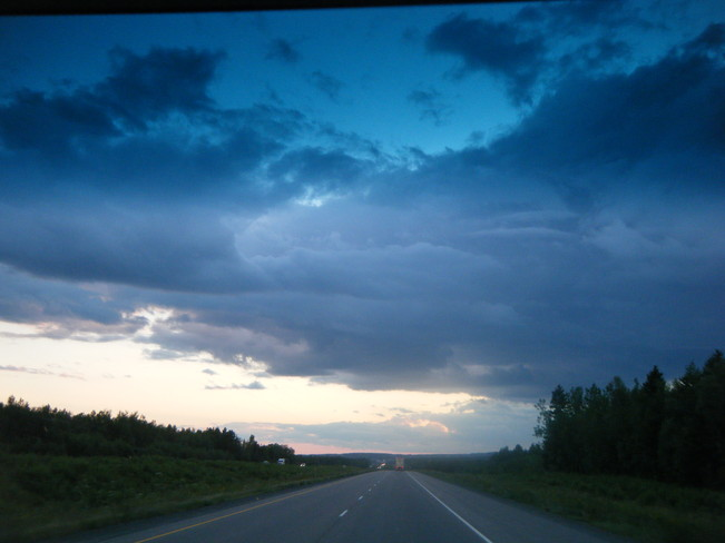 very black clouds ,then a bit of rain Moncton, New Brunswick Canada