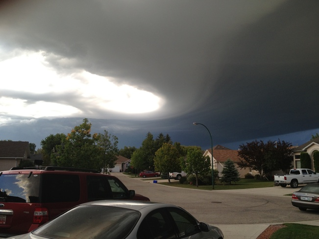 cloud formation over Selkirk Selkirk, Manitoba Canada