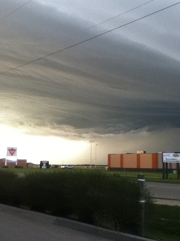 storm clouds Selkirk, Manitoba Canada