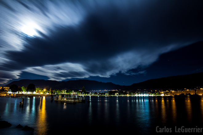 Busy Night Sky Penticton, British Columbia Canada