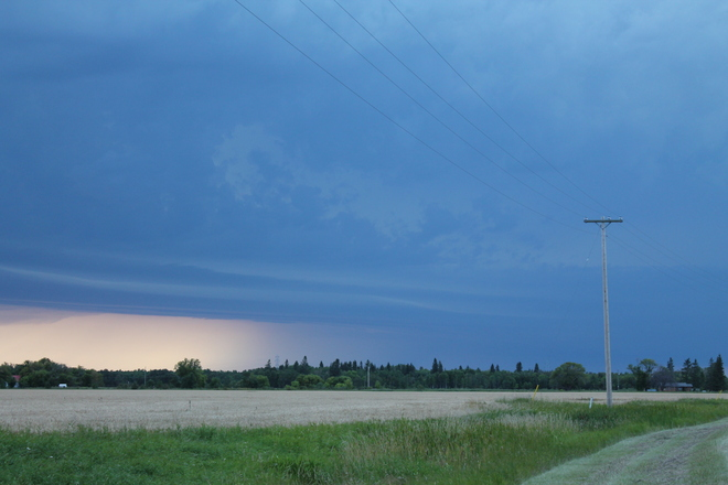 it was a crazy storm. Beausejour, Manitoba Canada