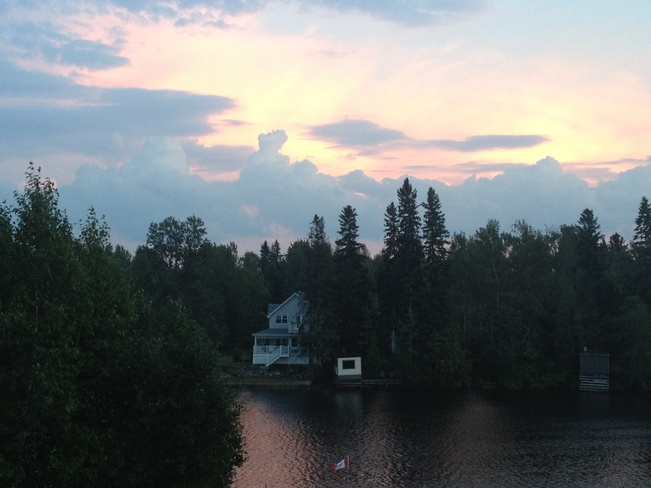 sunset on Mattagami River Timmins, Ontario Canada
