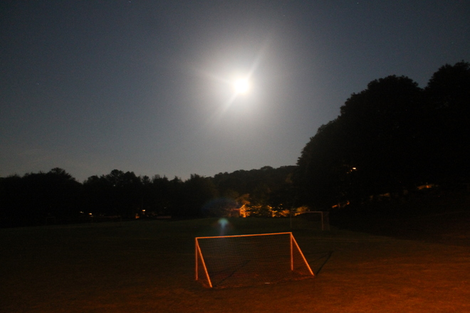 Soccer by Moonlight Wolfville, Nova Scotia Canada