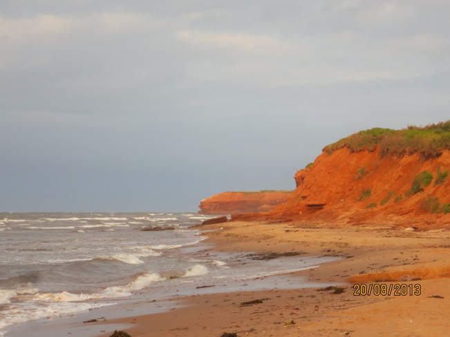 The cliffs at Doyles Cove Cavendish, Prince Edward Island Canada