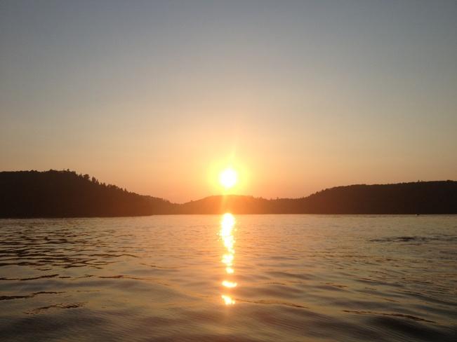 Sun set at Oliver Lake Thunder Bay, Ontario Canada