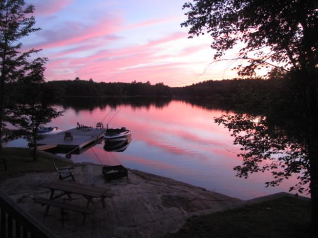 Sunset on Catchacoma Lake Catchacoma Lake, Ontario Canada